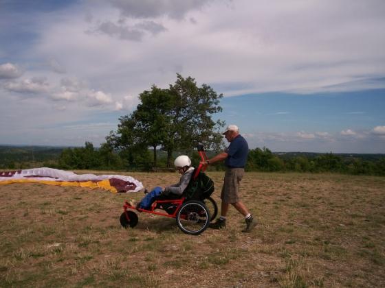 fauteuil,parapente,handicapées