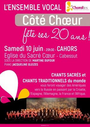 """Concert,  """"Coté Chœur"""","""