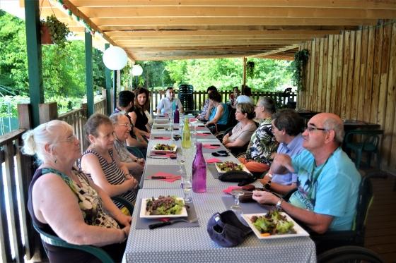 Martel, train touristique, repas