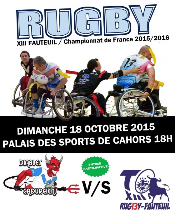 """rugby xiii fauteuil"""