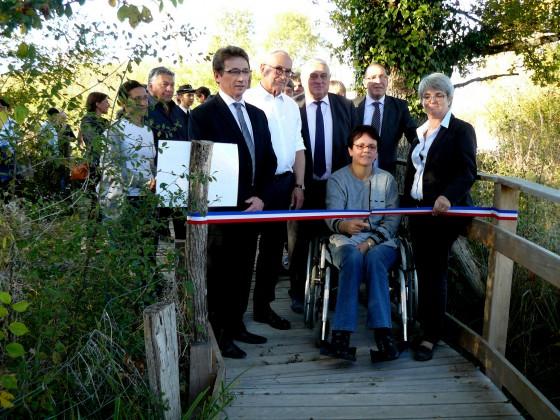 inauguration,marais de bonnefont,accessible,fauteuil roulant