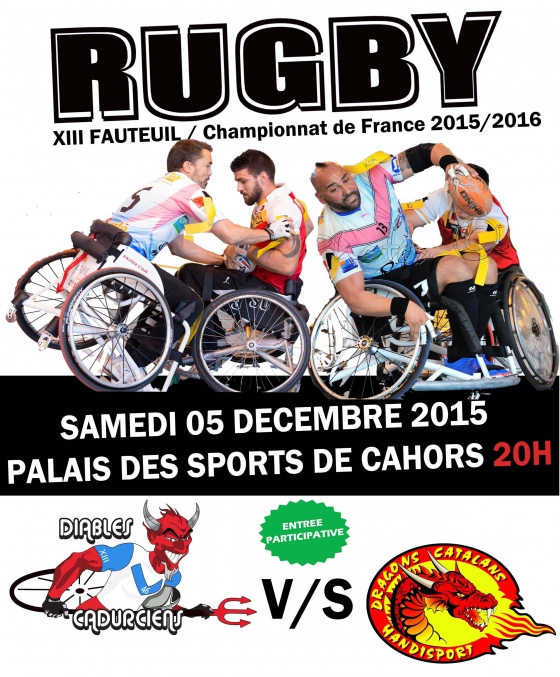 rugby xiii fauteuil, Diables cadurciens,Dragons catalans,